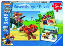 Ravensburger 09239 Paw Patrol Jigsaw Puzzle 3x49 Pieces 5+ Years - New