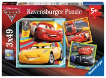 Ravensburger 08015 High Quality 3 x 49 Pieces Disney Pixar Cars 3 Jigsaw Puzzle