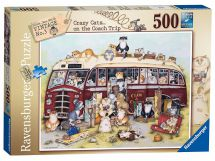 Ravensburger 14750 High Quality Crazy Cats Vintage Bus 500 Pieces Jigsaw Puzzle