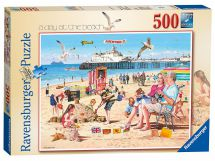 Ravensburger 14753 Colourful A Day at the Beach 500 Pieces Jigsaw Puzzle Game