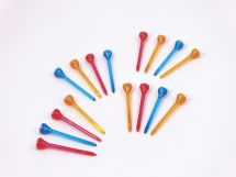 BoyzToyz RY257 Golf Tees Castle Top Multi Coloured 16 Pack Red Yellow Blue New