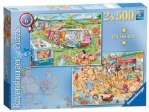 Ravensburger 14068 Best of British The Holiday 2 x 500 Piece Jigsaw Puzzle - New