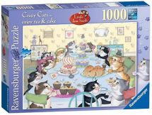 Ravensburger 19415 Crazy Cats Enjoy Tea and Cake 1000 Piece Jigsaw Puzzle - New