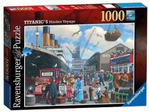 Ravensburger 19074 Titanic's Maiden Voyage 1000 Piece Adults Jigsaw Puzzle - New