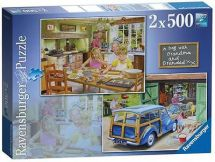 Ravensburger Day With Grandma &  Grandpa 2x  Jigsaw Puzzle 14072