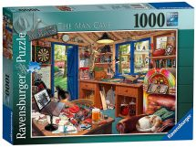 Ravensburger 19650 My Haven No 2 The Man Cave 1000 Pieces Jigsaw Puzzle Game