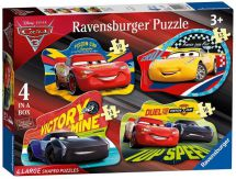 Ravensburger 06891 Children's High Quality Cars 3 Four Shaped Jigsaw Puzzles
