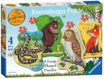 Ravensburger 07018 The Gruffalo Four Shaped Childrens Jigsaw Puzzles 19 x 14cm