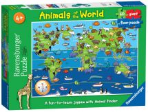 Ravensburger 07072 High Quality 60 Piece Animals of the World Giant Floor Puzzle