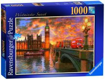 Ravensburger 19591 Westminster Sunset Colourful Jigsaw Puzzle 1000 Piece - New