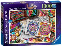 Ravensburger 19718 High Quality The Artist's Desk 1000 Pieces Jigsaw Puzzle Game