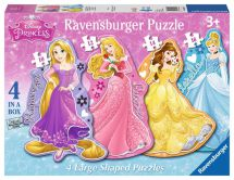 Ravensburger 07398 Disney Princesses Four Shaped Character Jigsaw Puzzles - New
