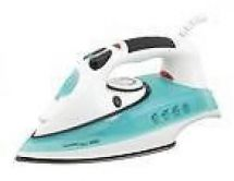 Lloytron E7201 1000w Caravan Mini Travel Steam Iron Non Stick Soleplate Green