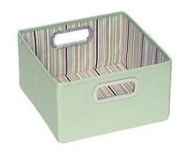 JJ Cole Nursery Storage Box Brown/Green Stripe JDSGS