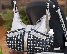 JJ Cole JMWSD Baby Accessory Changing Bag & Mat Handbag Satchel Silver Black New