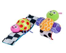 Tomy Lamaze LC27092 Baby Toy Soft Wrist Rattles Butterfly Ladybird Bright Colour