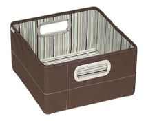 JJ Cole Nursey Storage Box Cocoa StripeJDSCS
