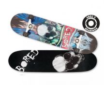 Bored To Death Concave Maple Ply Skateboard Deck ABEC 5 Bearings M02168