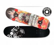 Bored Out Of My Brains Concave Maple Ply Skateboard Deck ABEC 7 Bearings M02150