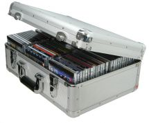 Citronic 127.065 Key Locking Robust Aluminium CD Flight Case Holds 80 CD's - New