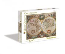 Clementoni 31229 Carte Antique 1000 Pieces High Quality Collection Jigsaw Puzzle