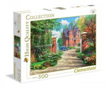 Clementoni 35010 The Red Brick Cottage 500 Pieces High Quality Jigsaw Puzzle