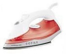 Lloytron E7303 1200w Ripple Steam Clothes Iron Non Stick Sole 180ml Spray - Red