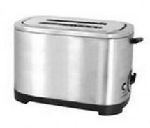 Lloytron 2 Slice Toaster Brushed Steel Black