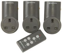 Mercury Remote Control Wireless Plug In Mains Socket Set Of 3 Wall Plugs