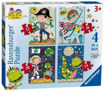 Ravensburger 06902 High Quality Rachel Ellen Boys 4 in Box Jigsaw Puzzle - Multi