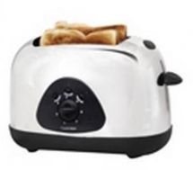 Lloytron 2 Slice Toaster Polished Steel Black Trim