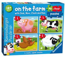 Ravensburger On The Farm 4 In 1 Jigsaw Puzzle 07302