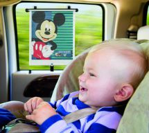 Tomy Adjust & Lock Car Window Sun Shade Disney Mickey Mouse Twin Pack