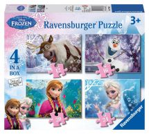 Ravensburger 07360 Colourful 12/16/20 or 24 Pieces Disney Frozen 4 in Box Puzzle
