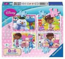 Ravensburger 07329 Disney Doc McStuffins 4 in 1 Box Childrens Jigsaw Puzzles New