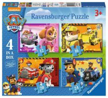 Ravensburger 07033 Paw Patrol 4 In Box 72 Piece Jigsaw Puzzle 3+ Years - New