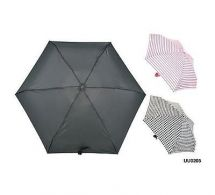 KS Brands UU0205 Micromini Compact Umbrella In Assorted Prints - Black Pink Grey