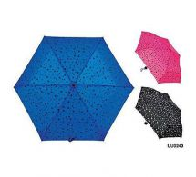 KS Brands UU0240 Ladies Fashion Star Print Supermini Umbrella Assorted Shades