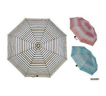 KS Brands UU0231 Taslon Graduated Stripes Supermini Umbrella 3 Assorted Colours