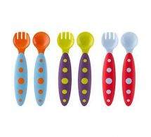 Boon B387 Modware 3 Pack Spoon and Fork Toddler Utensil Set Dishwasher Safe New