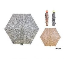 KS Brands UU0242 Snake Print 3 Section Supermini Umbrella Asstd Fashion Shades