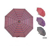 KS Brands UU0229 Assorted Fashion Designs Taslon Supermini Striped Umbrella New