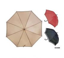 KS Brands UU0238 Ladies Fashion Print Edge Walking Umbrella Assorted Colours New