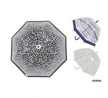 KS Brands UU0245 Ladies Fashion Manual Opening Dome Umbrella Assorted Prints New