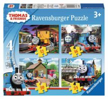 Thomas And Friends 07070 Four Jigsaw Puzzles In One Box Childrens Activity - New