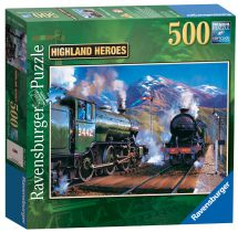 Ravensburger 14242 Highland Heroes Railway Adults 500 Piece Jigsaw Puzzle - New