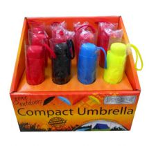 Boyz Toys RY561 Assorted Colourful Compact Travel Umbrella Matching Handle - New