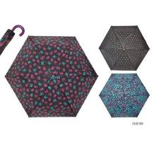 KS Brands UU0189 Ladies 3 Section Supermini Umbrella In Assorted Fashion Prints