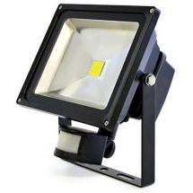 Lloytron L8513 Passive IR 30w LED Floodlight w/ Screw & Rawl Plugs - Black - New