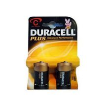 Duracell Plus Advanced MN1400 Standard Size C Alkaline Batteries Twin Pack New